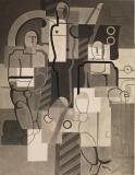 Willi Baumeister: Drei Monteure (1929)