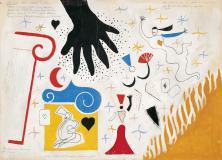 """Willi Baumeister:  Entwurf des Bühnenvorhangs zu """"Liebeszauber"""" (1947)"""