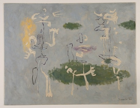 Three Figures with Three Green Islands (Inv. No. ab-naw-0005)