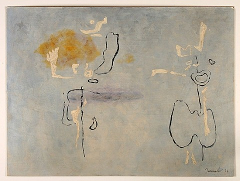 Zwei Figuren mit Ocker und Violett (Inventar-Nummer ab-naw-0006)