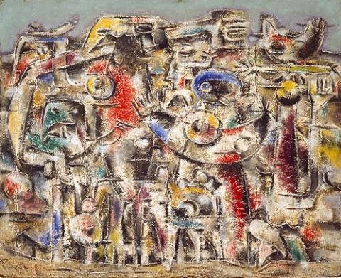 Willi Baumeister: Maya-Mauer (1946)