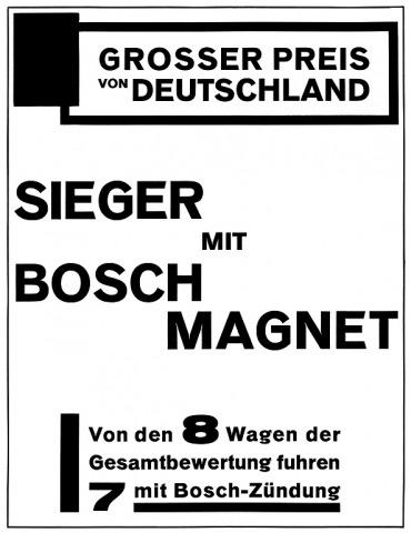 Willi Baumeister: Inserat für die Firma Robert Bosch AG (1926)