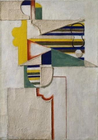 Willi Baumeister: Figur mit Streifen II (1920)