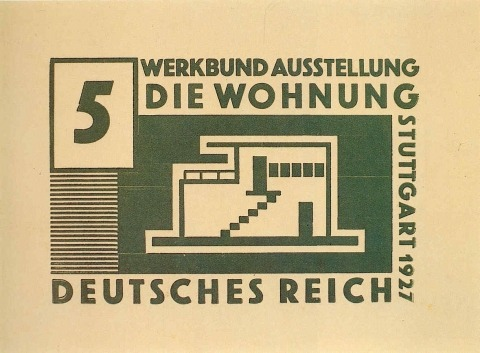 Willi Baumeister:  5 Pfennig-Briefmarke (1927)