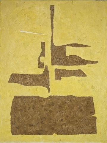 Willi Baumeister: Han-i auf Gelb (1955)