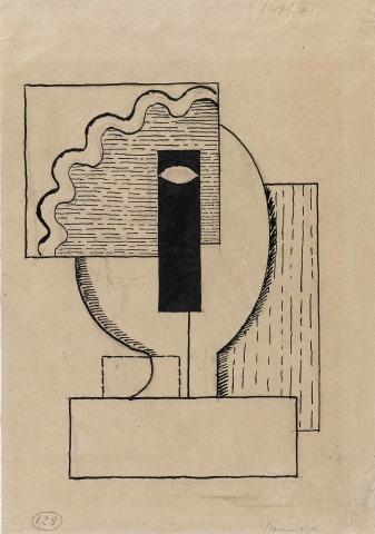Willi Baumeister: Kopf II (1920)