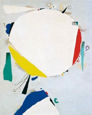 Willi Baumeister: Monturi, Weißer Diskus (1954)