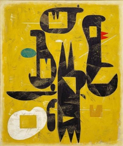 Willi Baumeister: Spitze Formen (1948)