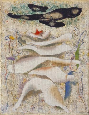 Willi Baumeister: Sterbender Schwan (1940)