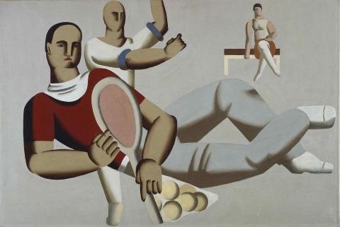 Willi Baumeister:  Tennisspieler liegend (1929)
