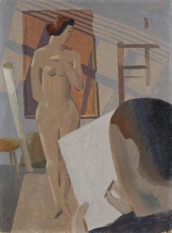 Willi Baumeister: Zeichner und Modell (1913)