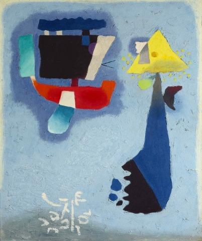 Willi Baumeister: Zwei Laternen (1955)