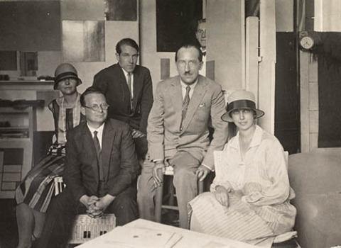 Im Atelier von Piet Mondrian, Paris 1926