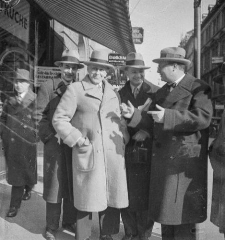 Willi Baumeister mit Adolf Loos, 1931