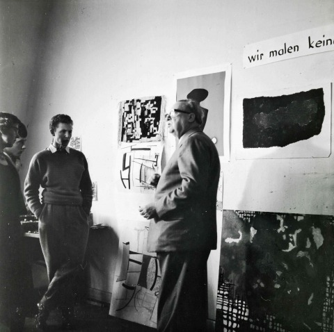 Baumeister in der Stuttgarter Kunstakademie, 1950
