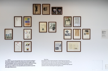 Fritz Seitz, Farbvernetzungen Ausstellungsansicht, Ralph Fischer