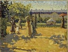 Willi Baumeister: Nachmittag im Schlossgarten (1910)