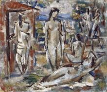 Willi Baumeister: Badende (1912)
