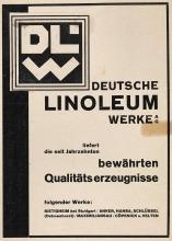 Willi Baumeister: Inserat für die Deutschen Linoleum-Werke AG in Bietigheim (1927)
