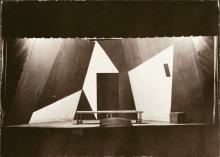 """Willi Baumeister:  Bühnenbild zu """"Freiheit"""" von Herbert Kranz (1920)"""