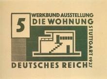 Willi Baumeister:  5 Pfennig-Briefmarke (1927)