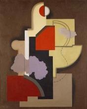 Willi Baumeister: Konstruktion Rot-Oliv II (1924)