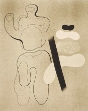 Willi Baumeister: Linienfigur auf Braun (1935)