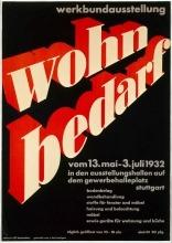 """Willi Baumeister:  Plakat der Werkbund-Ausstellung """"Wohnbedarf"""" (1927)"""
