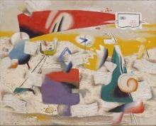 Willi Baumeister: Roter Komet (1947)