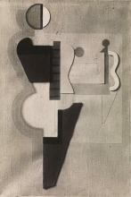 Willi Baumeister: Zwei Figuren mit Kreis (1923)