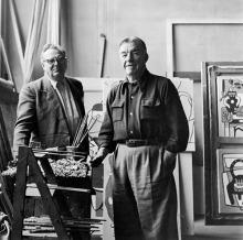Willi Baumeister mit Fernand Léger, 1949