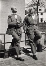 Oskar Schlemmer und Willi Baumeister 1929 in Frankfurt am Main
