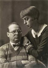 Willi Baumeister und seine Frau Margarete (geb. Oehm), 1926